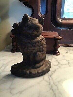 Vintage / Antique Cast Iron Cat Doorstop