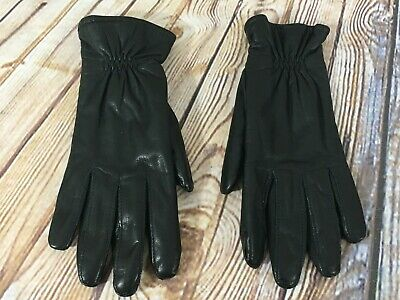 Black Leather Thinsulate Lined Driving Gloves Ladies Women's Size Large L