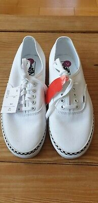 VANS Off The Wall Trainers Shoes Mens White Lace Up Size 9 UK BNWOB TAGS