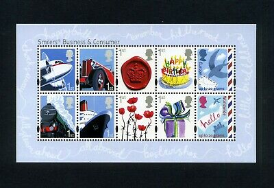 GB 2010 Business & Consumers Smilers Miniature sheet  SG MS3024  MNH / UMM