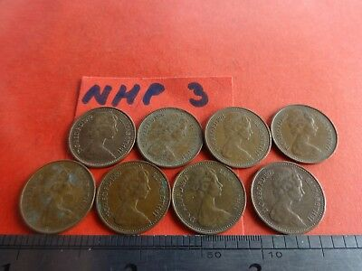 -Collection of 8 Half New Penny Coins   hp3