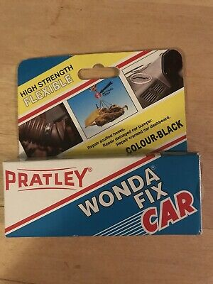 Pratley Rubber Repair - 2 Part Black Epoxy Leather Glue - Adhesive Kit for Co...