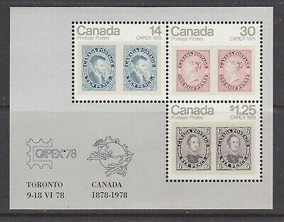 CANADA NO 756a, CAPEX 1978 SOUVENIR SHEET,  MINT NH