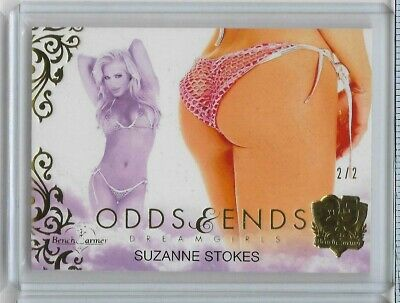 2019 Benchwarmer 25 Years Suzanne Stokes Odds & Ends Butt Card Gold - 2/2