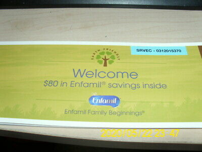 Enfamil Coupons/Checks Booklet value $80 some expired 3/2020