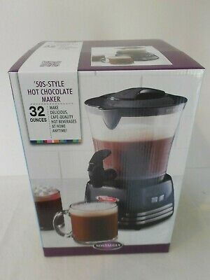 50's Style Hot Chocolate Maker Hot Beverages Nostalgia  NEW