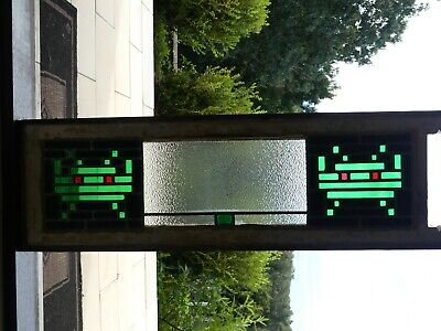 Space Invaders stained glass leadlight window