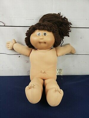 Vtg 1985 Coleco Cabbage Patch Kids Girl Doll Brown Hair Eyes