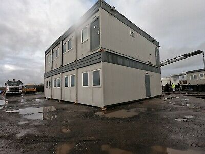 32ft x 40ft 8 BAYS MODULAR BUILDING TWO STOREY 4 ON 4 PORTABLE BUILDING £40 000