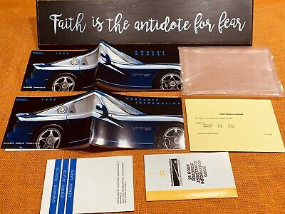 💥 1996 Dodge Viper Gts Owners Manual Set +Unused Service Sect 💥 (Clean Set)