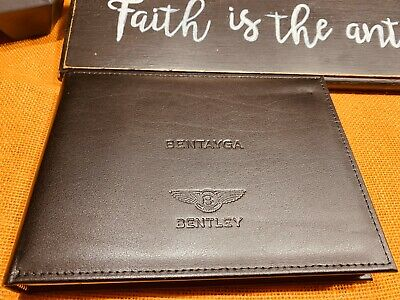 2018 2017 Bentley Bentayga Owners Manual W/ Navigation & Tv Section Inside (New)