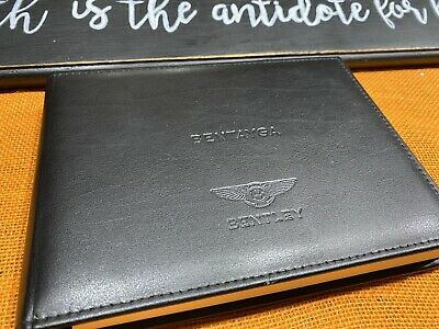 2017 2018 Bentley Bentayga Owners Manual W/ Navigation & Tv Section Inside (New)