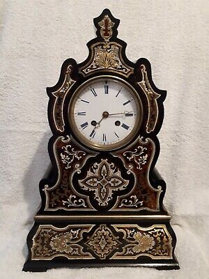 Antique French Inlaid Mantle Clock
