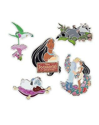 Disney Princess Pocahontas 25th Anniversary LE 1400 Pin Set! Meeko! Percy!