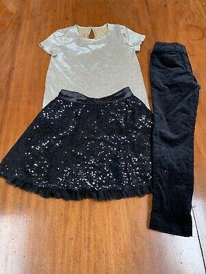 Party bundle - sequin skirt, sparkle top and skinny trousers - inc M&S autograph