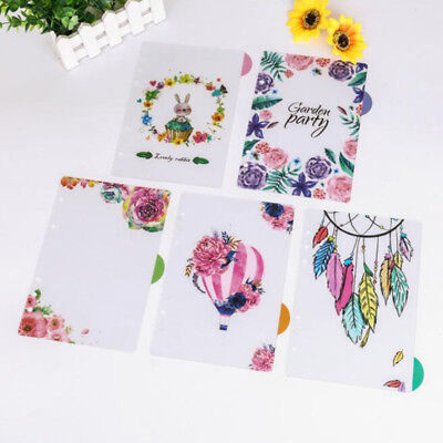 Color Matching Translucent Flower Index Page Replace Paper Clipboard Bookmark