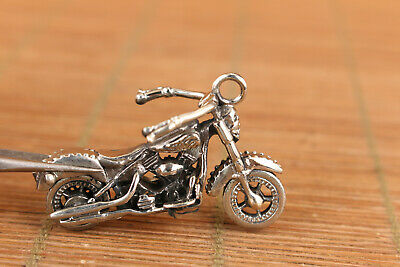 Chinese copper wheel moving motorbike statue unique collect car key pendant