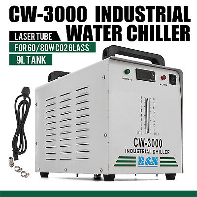 CW 3000 Industrial Water Chiller Co2 Glass Laser Cold Storage Engraving Machine