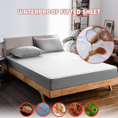 . Bedecor Breathable Waterproof Mattress Protector Fitted Sheet Naturally Hypoallergenic Tencel Top, 100x190//200cm