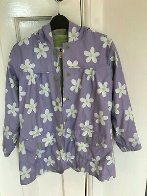 Hatley Daisy Coat With Towelling Inside, Quite Warm, Age 7, Good Condition