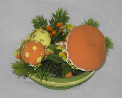 "GREAT Vintage 4"" MUSHROOM And Flower Arrangement"