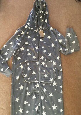 Next Star Grey And White Bodysuit One Piece Jump Suit Lounge/ Night Wear Age 15