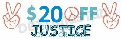 Justice $20 Off $ 40 Coupon Code clearance sale items exp 6/30