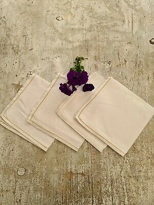 A Set Of 4 Vintage Linen Napkins