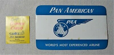 Pan Am Airlines Vintage Baggage Luggage Clipper Cargo Labels Stickers