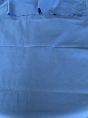 "3 1/4 Yards Vintage Medium Blue 100% Cotton Fabric 60"" Wide Lightweight Quilting"