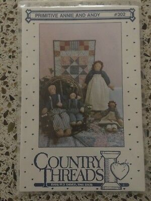 Primitive Annie & Andy Country Threads 302 Vintage New Free Shipping
