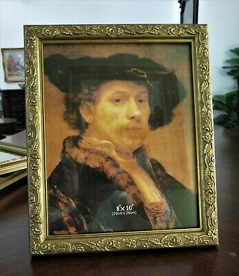 Nice Ornate Gold Gilt Molded Plastic Photo Frame For 8X10 Picture