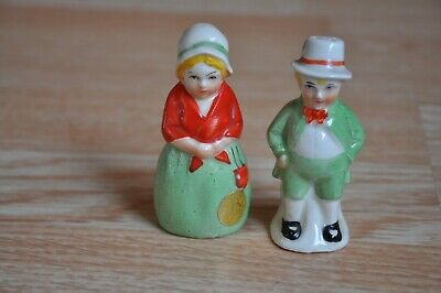 Vintage Man And Women Salt Pepper Shakers Made In Czechoslovakia