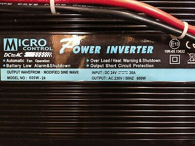 Power Inverter 600W Input 24->230V Autput  30A