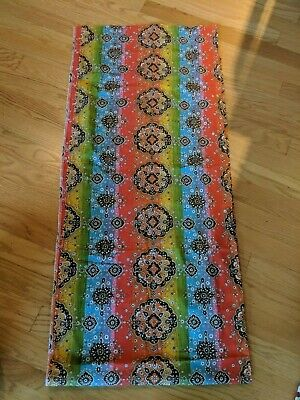 "Vintage 70's Boho Bright Multi Colored Fabric,  2-1/2+ Yards, 44"" Wide"