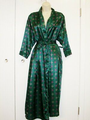 Kathryn M robe maxi Sateen pocket tie wrap Lounge home comfort