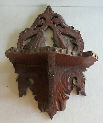 "Vintage Carved WOODEN Wall hanging SHELF~14"" by 9"""