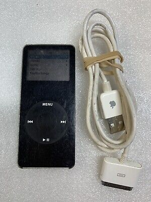 Apple iPod Nano 1st Generation 2GB A1137 Black Tested and Works