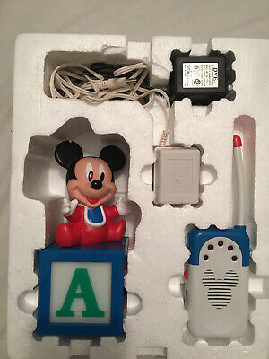 Disney Mickey Mouse Baby Nursery Safety First Working Monitor Night Lite MIB