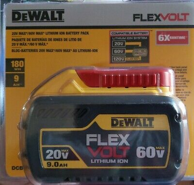 DEWALT DCB609 20V/60V MAX FLEXVOLT 9.0Ah Battery