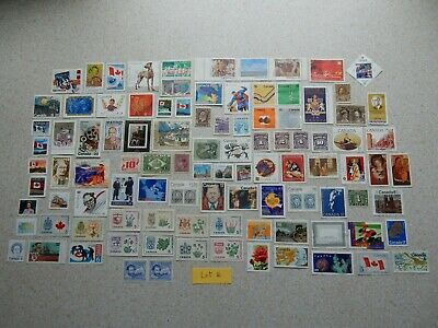 Canada 100 different stamps older and newer Mint no gum Lot 16
