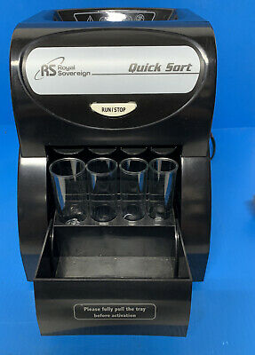 Royal Sovereign Quick Sort Coin Sorter Counter Machine Wrapper QS-1AC