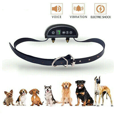 Humane Dog Bark Collar Rechargeable Waterproof for Small Medium and Large Dogs