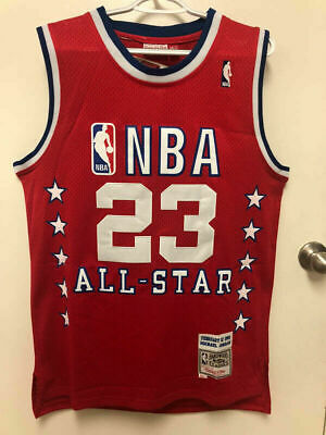 BRAND NEW #23 Michael Jordan 1989 All Star Mitchell & Ness SEWN RED Men's Jersey