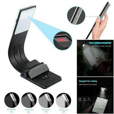 LED Portable Reading Book Light With Detachable Magnetic Clip USB Rechargeable