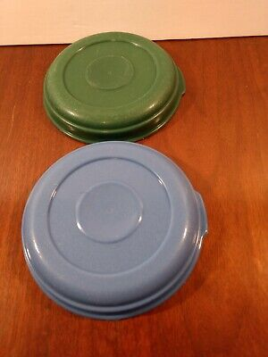 Rubbermaid servin saver size 1 replacement lids 0025 2 lids green and blue