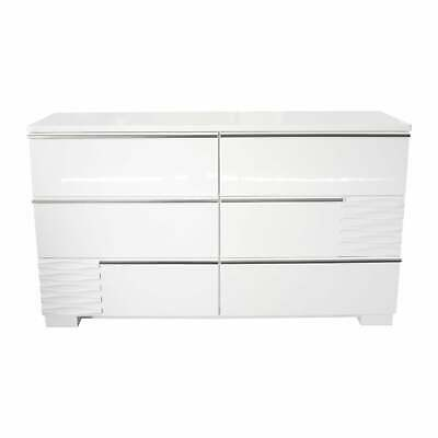 Best Master Furniture Athens White Bedroom Dresser White 6-drawer