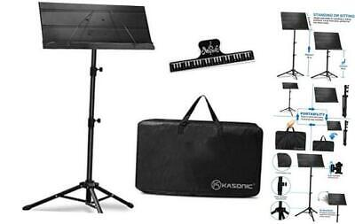 Kasonic Professional Sheet Music Stand with Portable Carrying Bag and Music