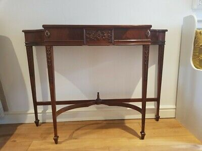 Antique Console Table (Inlaid / Lovely Detailing) With Secret Draw