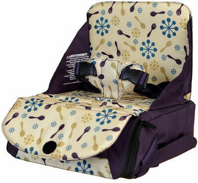 Munchkin Travel Booster Seat with 2 Adjustable Height Position - Purple